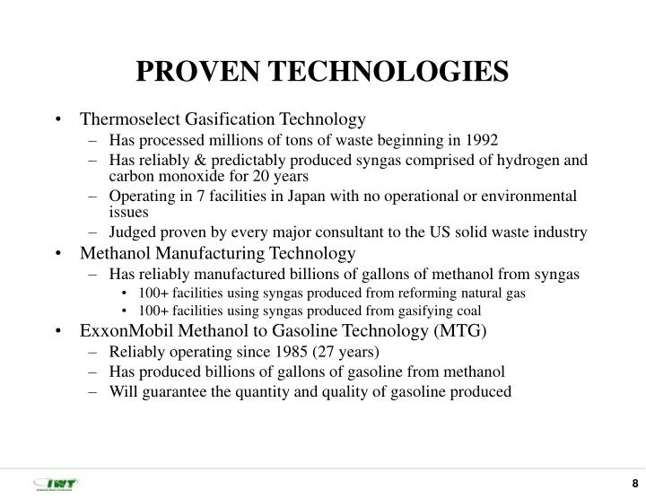 PROVEN TECHNOLOGIES