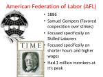 american federation of labor afl