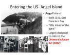 entering the us angel island