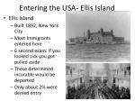 entering the usa ellis island
