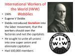 international workers of the world iww wobblies