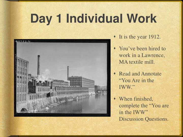 Day 1 Individual Work