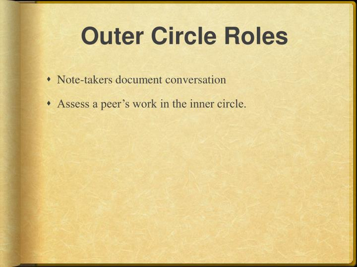 Outer Circle Roles