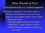 three worlds of text1