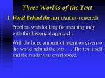three worlds of the text1