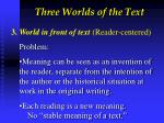three worlds of the text5