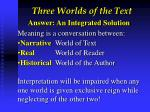 three worlds of the text6
