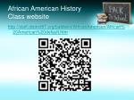 african american history class website