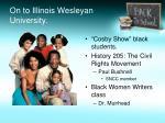 on to illinois wesleyan university