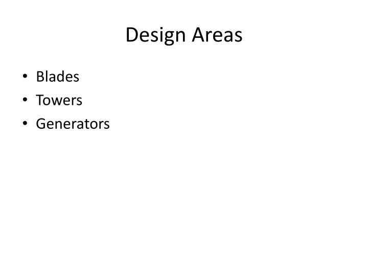 Design Areas