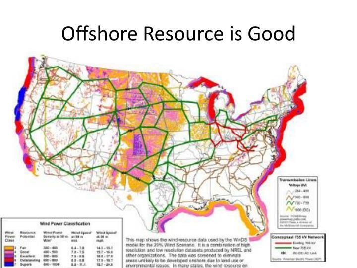 Offshore Resource is Good