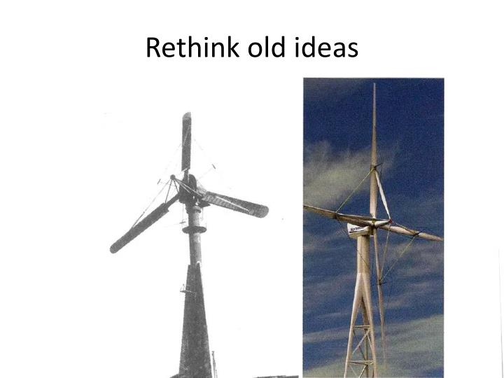 Rethink old ideas