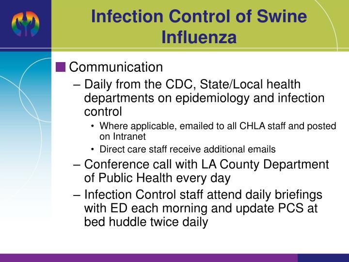 Infection Control of Swine Influenza