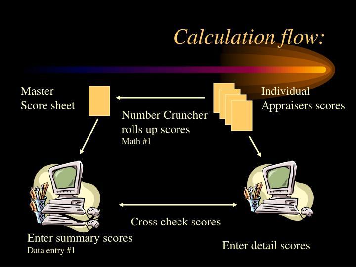 Calculation flow: