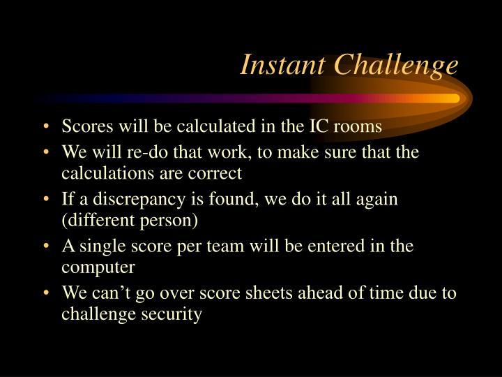 Instant Challenge