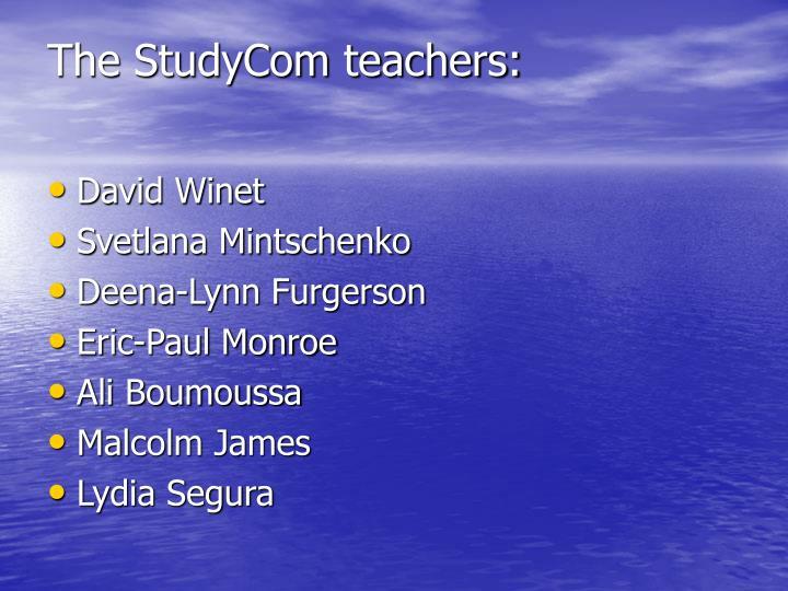 The StudyCom teachers: