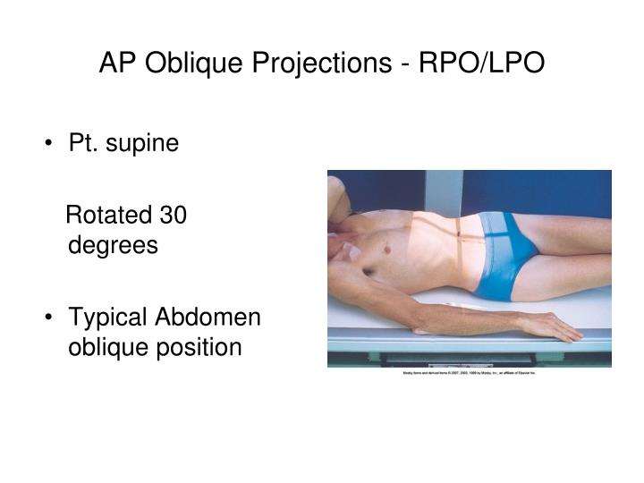 AP Oblique Projections - RPO/LPO