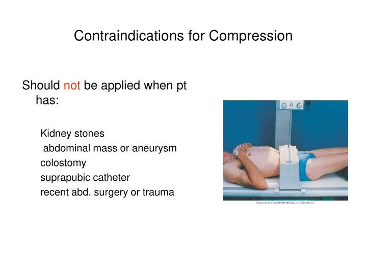 Contraindications for Compression