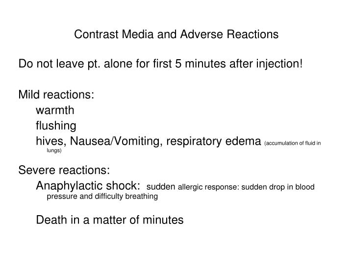 Contrast Media and Adverse Reactions