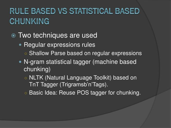 Rule Based Vs Statistical