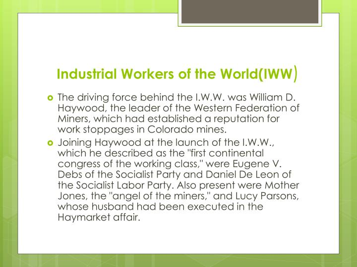 Industrial Workers of the World(IWW