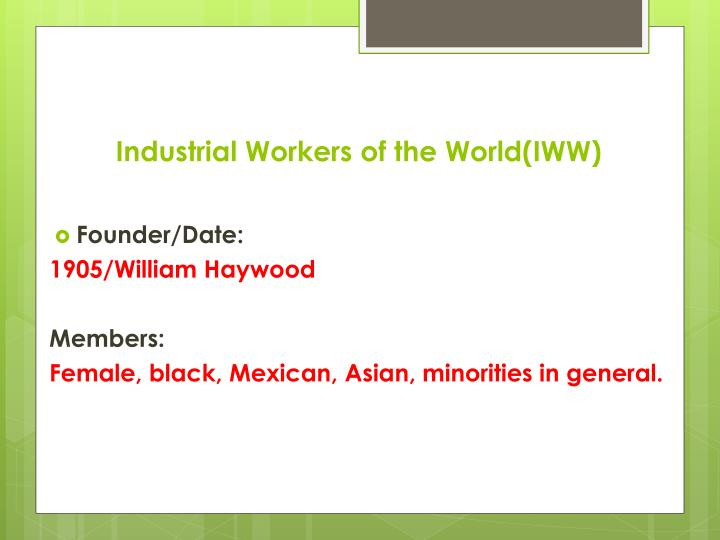 Industrial Workers of the World(IWW)