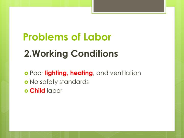 Problems of labor1