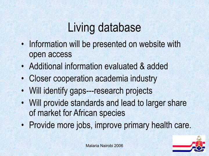 Living database