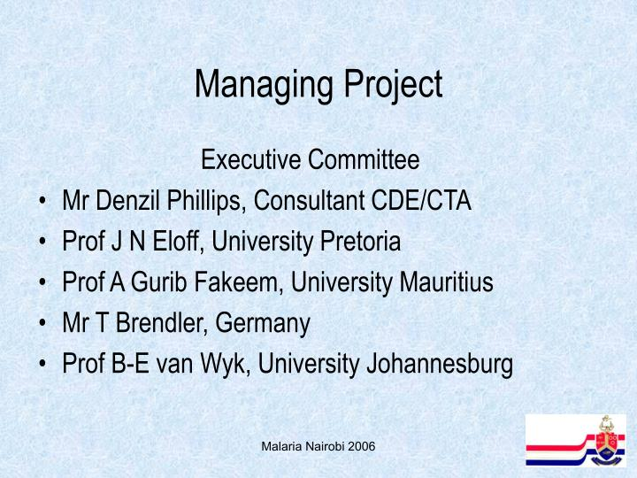 Managing Project