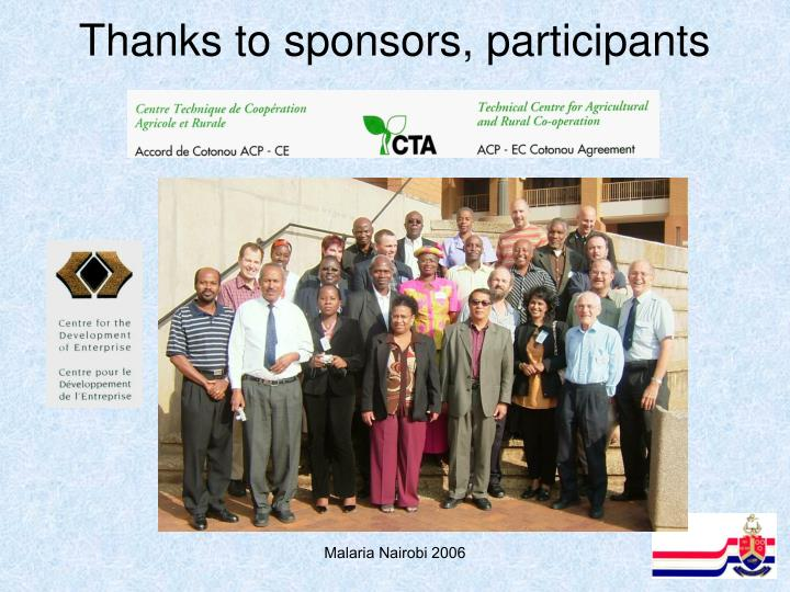Thanks to sponsors, participants