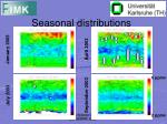 seasonal distributions