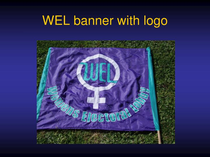 WEL banner with logo