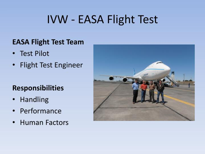 IVW - EASA Flight Test