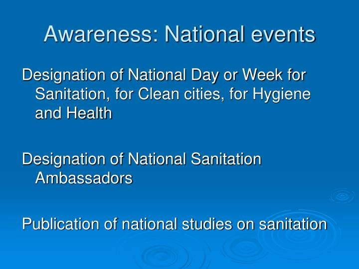 Awareness: National events