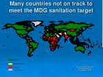 many countries not on track to meet the mdg sanitation target