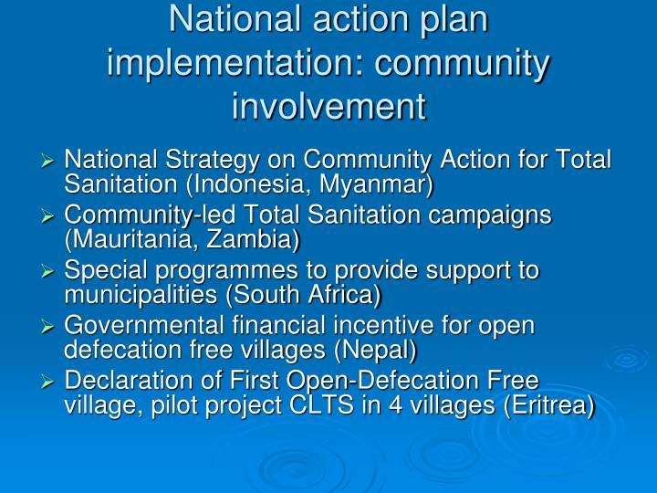 National action plan implementation: community involvement