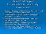 national action plan implementation community involvement