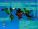 regional sanitation meetings 80 countries involved
