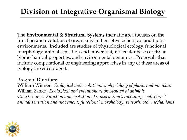 Division of Integrative Organismal Biology