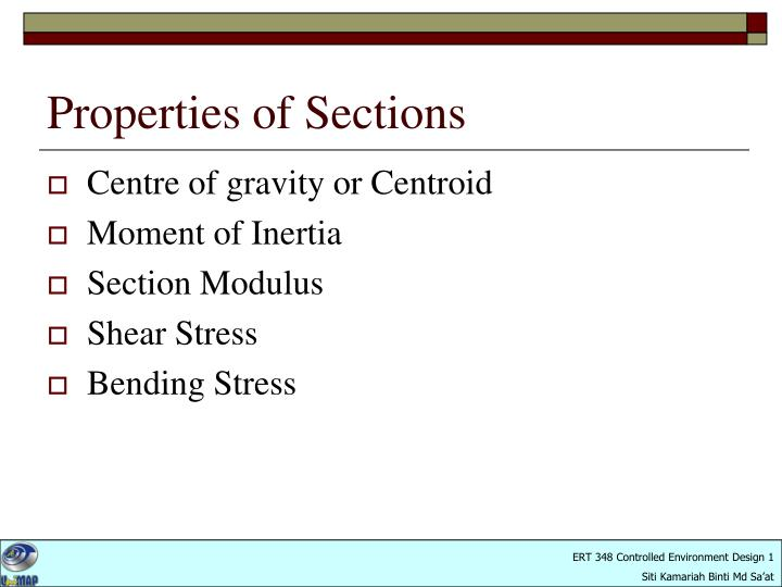 Properties of sections1