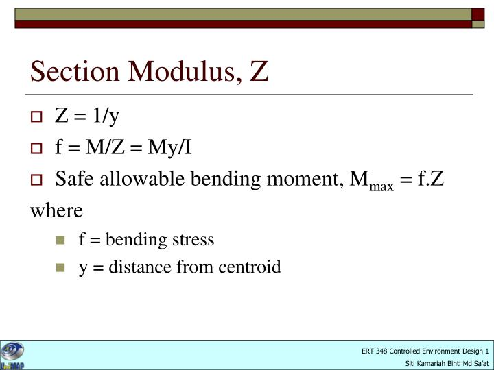 Section Modulus, Z
