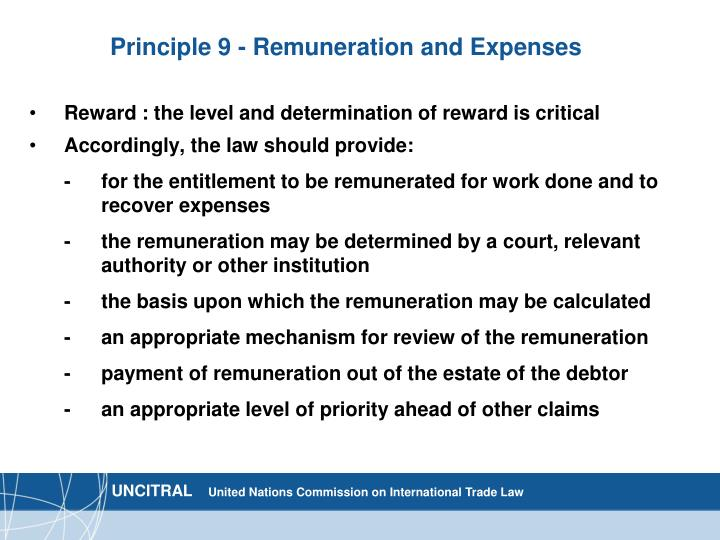 Principle 9 - Remuneration and Expenses