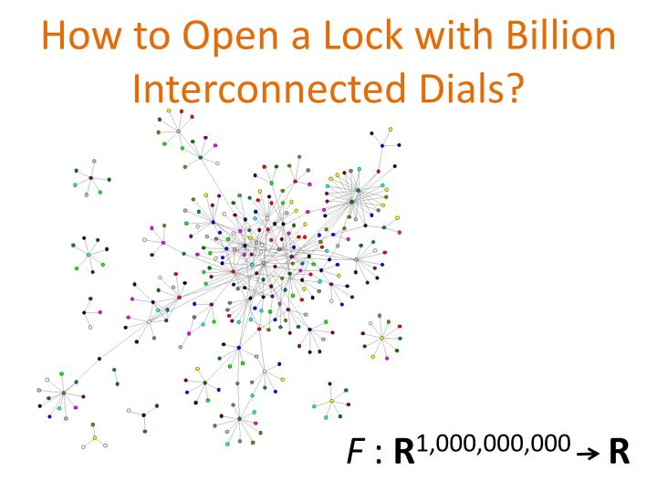 How to Open a Lock with Billion Interconnected Dials?