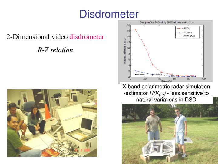 X-band polarimetric radar simulation -estimator