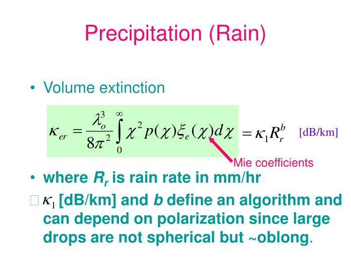 Precipitation (Rain)