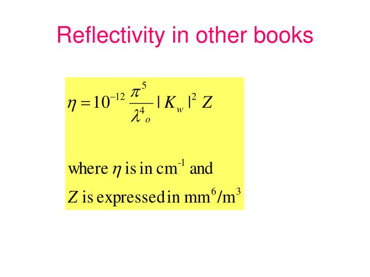 Reflectivity in other books