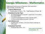 georgia milestones mathematics