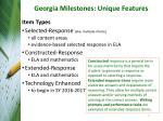 georgia milestones unique features2