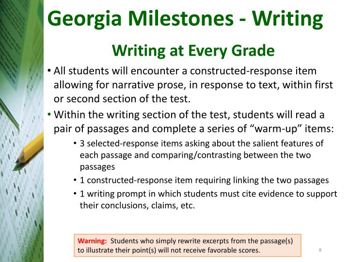 Georgia Milestones - Writing
