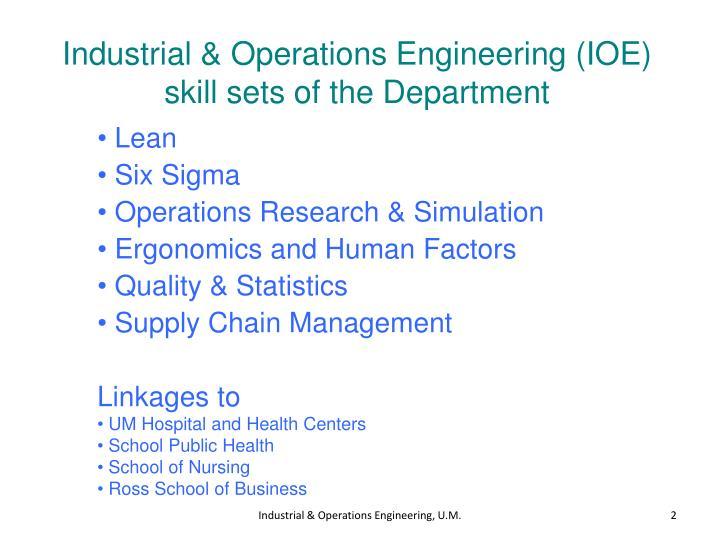 Industrial & Operations Engineering (IOE)